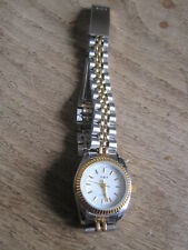 SKY QUARTZ WATCH NEW  & BOXED  STAINLESS STEEL SILVER & GOLD COLOURING