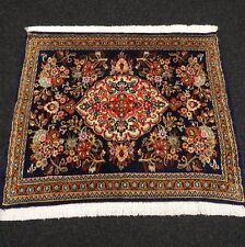 Orient Teppich Dunkelblau 77 x 64 cm Perserteppich Floral Carpet Tappeto Tapijt