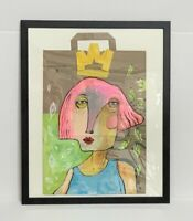 PAINTING ACRYLIC ON RECYCLABLE CRAFT PAPER BAG(FRAME INCLUDED)CUBAN ART by LISA.