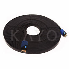 KAYO FLAT High Speed HDMI2.0b Cable Flat Wire CL3 Rated,4K,2160p,UHD 40 FT- 1PK