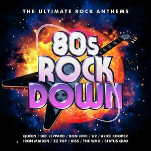 80s ROCK DOWN 3-CD SET - Queen, Def Leppard, ZZ Top (Released May 21st 2021)