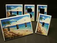 TROPICAL PALM TREE BEACH PARADISE LIGHT SWITCH OR OUTLET COVER V238