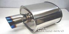 "Megan Racing Universal Turbo Muffler rolled titanium tip 3"" ID MR-MU-MVO-T New"