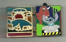 WDW LE CAST EXCLUSIVE STAINED GLASS T-REX DINOSAUR WITH STITCH DISNEY PIN NOC