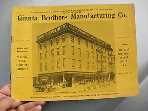 GIUNTA BROS PHILA FRUIT PRESSES CRUSHERS PASTA & ICE CREAM MAKERS CATALOG c1920