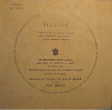 KURT REDEL/PRO ARTE DE MUNICH/JEANNOUTOT concerto/divertissement HAYDN LP VG++