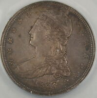 1837 Capped Bust Silver Half Dollar ANACS AU-50 Better Coin