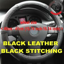 CAR STEERING WHEEL COVER SIZE 40-41cm BLACK LEATHER