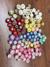 Huge Lot Of Vintage Tatting Thread! 111 Spools-Coton A Broder, Star, C&C