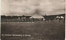 Kingussie posted Cameron Highlanders in Camp by United Free Church Guild Tent.