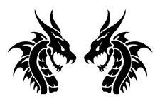 DRAGON HEADS  X2 VINYL DECAL STICKER FOR CAR, WINDOW, LAPTOP, GAME SYSTEM,ETC.