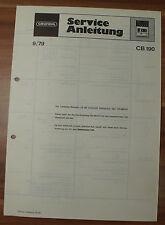 Reproductor videocasetes cb190 cb200 cb210 Grundig Service Manual service instrucciones