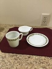 Assorted Corelle Spring Blossom Green Pattern Dinnerware & Serving Pieces