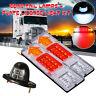 Pair 12V 19 LED Rear Stop Reverse Tail Light Indicator Lamp Trailer Truck