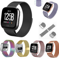 For Fitbit Versa Watch Magnetic Milanese Loop Mesh Wrist Band Strap Bracelet