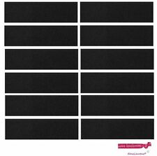 10 BLACK TERRY SWEATBAND Cotton Headbands Absorbent Workout Quality Sport BANDS