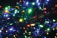 Ex-Pro Mains 200 LED Lights String 10m In/Ext timer Sequence Multi Colored