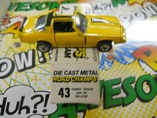 1983 Road Champs Turbo Trans Am 80 Yellow #43 with box N.O.S.