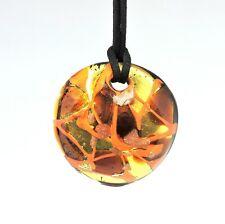 Collar Mujer de Vidrio Murano Auténtico Naranja Joya Con Caja de Regalo