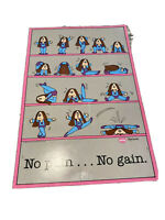 RARE 1983 Vtg CATHY Guisewite Comic Funny Exercise Poster NO PAIN NO GAIN