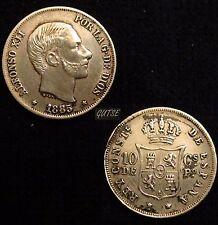 *GUTSE*238-ALFONSO XII, 10 CENTAVOS DE PESO 1885, FILIPINAS, EBC-