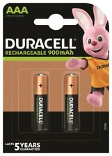 2 x Duracell 900mAh Akku Micro AAA Micro HR03 DX2400 1,2V Schnurlos Telefon