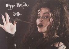 Homemade peronalised Harry Potter birthday card - Bellatrix LeStrange