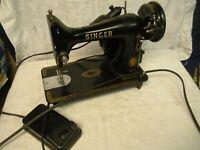 Vintage Singer 99K Electric Sewing Machine w/ Light & Foot Control 1954 EK167785
