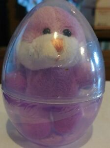 """3"""" Little Purple Bunny in Purple & Clear Surprise Egg Party Favor Gift Easter"""