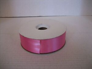 Unwired Hot Pink Ribbon 100% Polyester 50 Yards 1 1/2in.Wide Made in USA NW