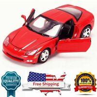 Diecast model Motor Max 2005 Chevy Corvette C6, Red 73270AC - 1/24 Scale