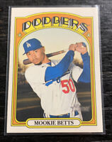 Mookie Betts SP Team Color Variation 2021 Topps Heritage #167 Dodgers