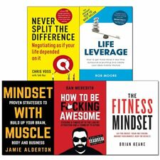 Life Leverage Mindset With Muscle Never Split Difference 5 Books Collection Set
