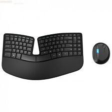 New Genuine Microsoft Sculpt Ergonomic Wireless Mouse & Keyboard - Black