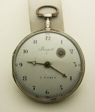 Giant 63mm Silver French Verge Fusee Breguet A Paris Project Pocket Watch