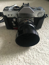 Petri 35mm  FT camera with 55mm lens and case