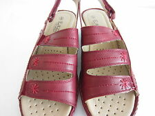 Ladies Eaze Casual Sandals With Slingback Strap F3106 Red UK 5