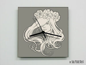 Art Nouveau Lady Wall Clock