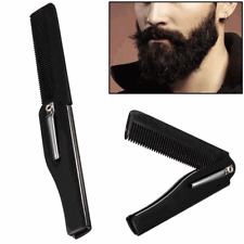 Mens Travel Folding Foldable Comb Hairdressing Hair Mustache Pocket Beard Tool