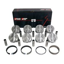 SPEED PRO Ford 289 302 Flat Top Hypereutectic Coated Pistons + MOLY rings +.030
