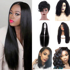 Natural Women Black Wigs Long Short Curly Straight Wig Synthetic Full Wavy Hair