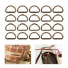 25pcs Metal D Ring Buckle fits Strapping Webbing Purse Leather Bag Crafts