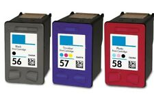 3 PK #56 #57 #58 Ink for HP PSC 1350 2100 2110 2170 2175 2200 2210 2410 2510