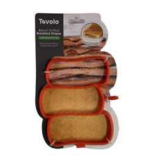 Tovolo Bacon Stuffed Breakfast Mold Shaper Pancakes Eggs Red Silicone 81-15135