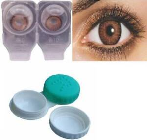 Brown Color Yearly Zero Power Contact Lenses for Eyes Crazy Lens With Case