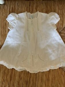 Feltman Brothers 3- 6 Mo White Vintage Dress Beautiful