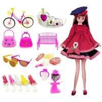 55 Pcs Princesse Poupée Accessoire Enfants Jouets Pour Outils De Poupée Barbie