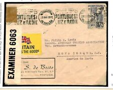 PORTUGAL WW2 Cover Wartime Patriotic BRITAIN DELIVERS THE GOODS Label 1941 T251