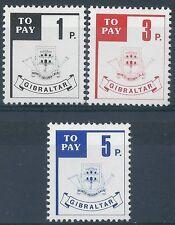 p196) Gibraltar. 1966. MNH. SG D13/14/15. Postage Dues