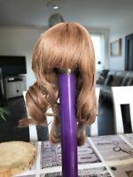 Exceptionnelle perruque ancienne cheveux naturels pour  poupée ancienne  Jumeau
